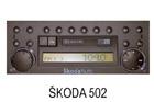 Škoda autorádio 502