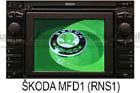Škoda navigace MFD
