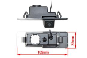 CCD parkovací kamera Kia Optima II. - rozměry