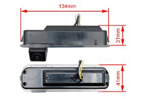 CCD parkovací kamera Ford Focus (2011->) - rozměry