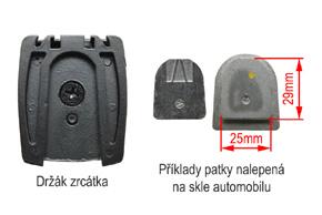 AK-043LA monitor v zrcátku - detail upevnění na sklo