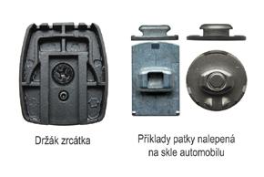 AK-043LA monitor v zrcátku Audi, VW - detail patky pro upevnění na sklo