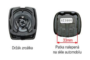 AK-043LAD monitor v zrcátku ztmavovací Hyundai, Kia - detail patky na skle