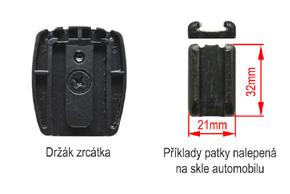 AK-043LAD monitor v zrcátku ztmavovací Opel - detail patky na skle