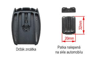AK-043LAD monitor v zrcátku ztmavovací Renault, Volvo - detail patky na skle
