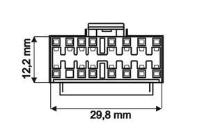 OEM kabely autorádií Sony - detail konektoru