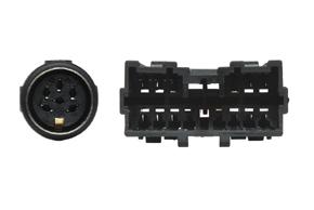 Adaptér pro autorádia Mitsubishi s akt.audio - detail konektoru
