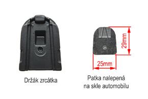 AK-043LA monitor v zrcátku Ford, Toyota, Mitsubishi - detail upevnění na sklo