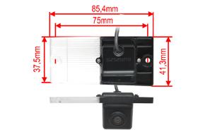 CCD parkovací kamera Kia Sportage - rozměry