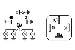 Přerušovač blinkrů - schéma zapojení
