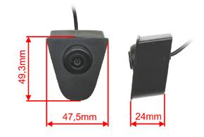 CCD přední parkovací kamera Honda Accord (2011->) - rozměry