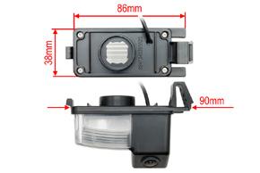 CCD parkovací kamera Nissan Navara - rozměry