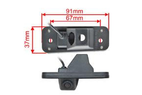 CCD parkovací kamera Hyundai Santa Fe - rozměry