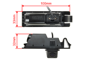 CCD parkovací kamera Hyundai ix35 - rozměry