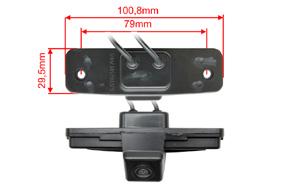 CCD parkovací kamera Subaru - rozměry