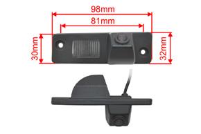 CCD parkovací kamera Opel Antara - rozměry