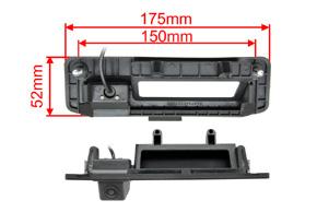 CCD parkovací kamera Mercedes GLK - rozměry