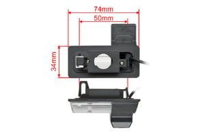 CCD parkovací kamera Nissan Tiida - rozměry
