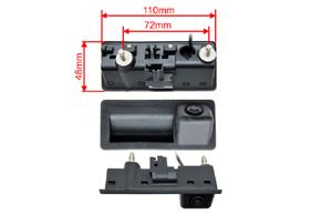 CCD parkovací kamera Audi / VW - rozměry