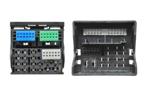 Adaptér pro HF sadu Audi / Seat / VW s akt.audio syst. - detail konektoru
