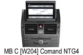 Mercedes C-Klass [W204] - navigace Comand NTG4