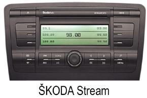 Škoda autorádio Stream