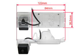 CCD parkovací kamera Mitsubishi L200 - rozměry