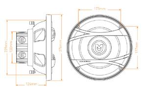 MACROM M1SW.1044 subwoofer - rozměry