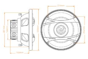 MACROM M2SW.1244 - rozměry