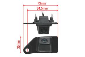 CCD parkovací kamera Mitsubishi ASX - rozměry