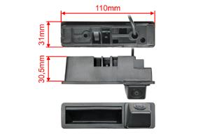 CCD parkovací kamera do madla Audi - rozměry