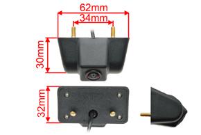 CCD parkovací kamera Jeep Wrangler - rozměry