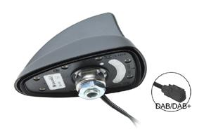 SHARK2 DAB střešní aktivní anténa