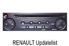 OEM autorádio Renault Updatelist 1