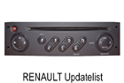 OEM autorádio Renault Updatelist 3