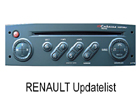OEM autorádio Renault Updatelist 4