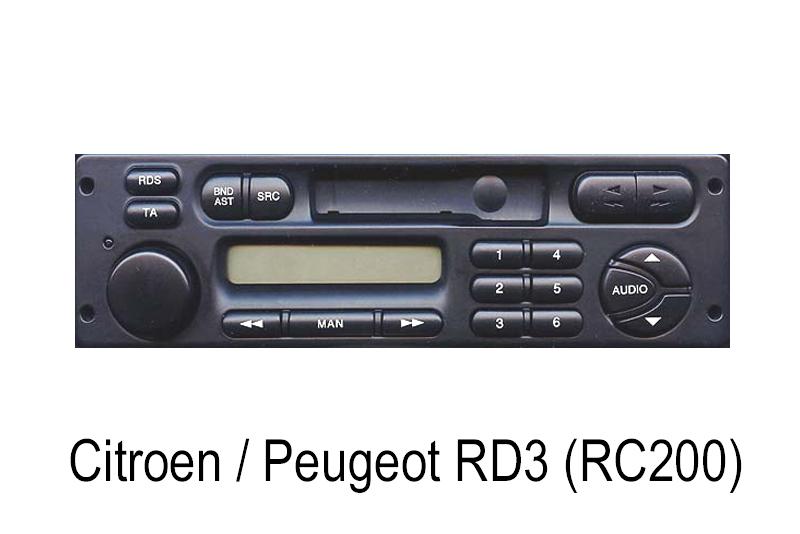 AUX vstup  Citroen / Peugeot RD3
