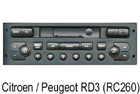 Autorádio Citroen / Peugeot RD3 (RC260)