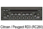 Autorádio Citroen / Peugeot RD3 (RC280)