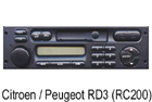 Autorádio Peugeot RD3 (RC200)