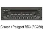 Peugeot / Citroen autorádio RD-3 RC280