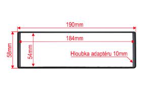 Distanční podložka 1DIN - rozměry
