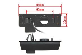 CCD parkovací kamera Mitsubishi Grandis - rozměry