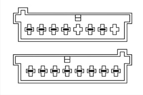 Adaptér pro ovládání na volantu Ford / VW - detail konektoru