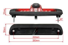 CCD parkovací kamera Fiat Ducato - rozměry