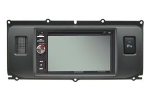 Rámeček autorádia 2DIN Land Rover Evoque s instalovanou navigací