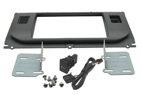 Rámeček autorádia 2DIN Land Rover Evoque - obsah balení