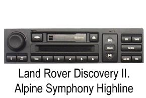 OEM autorádio Alpine  Land Rover Discovarz II.