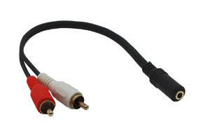 Audio adaptér JACK - CINCH