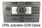 Opel autorádio CD40